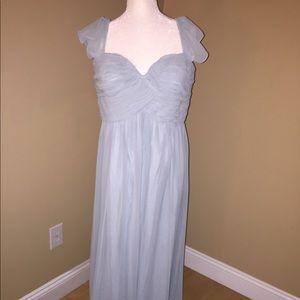 Donna Morgan Bridesmaid Dress Bella Blue Sz 18